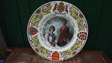 1987 Charles & Diana as Duke & Duchess of Cornwall Panorama Plate 650th Anniv