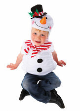 BOYS GIRLS SNOWMAN COSTUME CHRISTMAS XMAS FANCY DRESS OUTFIT TABARD NEW AGE 3-5