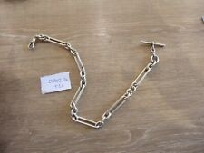 QUALITY ANTIQUE STERLING SILVER SINGLE ALBERT LARGE CHUNKY POCKET WATCH CHAIN