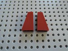 LEGO 4 x Dachstein pilastro 4460b 75 ° 2x1x3 ROSSO SCURO 10182 41126 10218