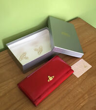 Vivienne Westwood Classic Orb Red Patent Leather Slim Flap Wallet Purse