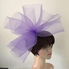 light pale purple lilac fascinator millinery burlesque wedding hat ascot