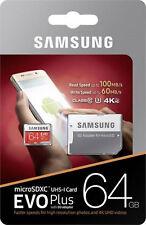 Samsung 64 GB microSDXC EVO plus Class 10 UHS3 4K für GALAXY S4 S5 S6 S7 S8