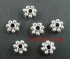 1000pcs Tibet Silver  Little Daisy Spacers 4x2mm 1022-1