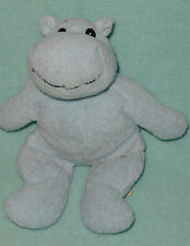 """JAAG Plush Blue Hippo Rattle Hippopatomus Stuffed Baby Toy 9"""""""