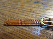 NEW OLD STOCK LADIES BROWN TIMEX WATCH BAND 8MM PADDED CROCO GRAIN STITCHED