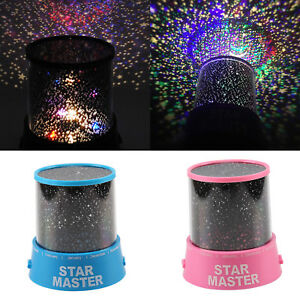 STAR PROJECTOR NIGHT LIGHT SKY MOON LED PROJECTOR MOOD LAMP KIDS BEDROOM
