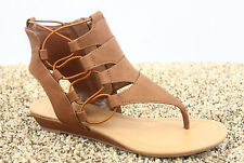 Women's Open Toe Strappy Gladiator Heel Low Wedge Sandal Shoes Size 5.5 - 11
