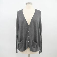 Vince Cashmere Cardigan Sweater Womens XS Gray Oversized Dolman Sleeves Boxy