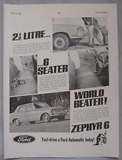 1965 Ford Zephyr 6 Original advert No.1