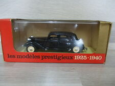 Solido 1/43 - l'age d'or - Citroën Traction 15 CV black 1938