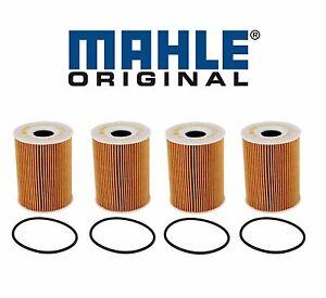 For Porsche 911997 Cayenne V8 Panamera Set of 4 Mahle Engine Oil Filter