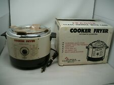 Vintage Abbott Large Cooker Fryer Almond Color Automatic Electric New in box