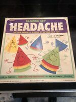 Vintage 1968  Kohner Game of Headache Board Family 100% Complete