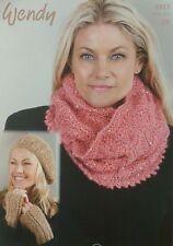 Knitting pattern onorevoli Lacy Cappuccio Berretto wristwarmers CELESTE DK Wendy 5919
