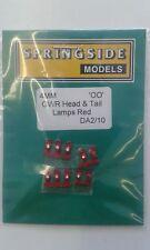 Gwr Testa & Coda Lampade Rosso (10) - Springside DA2/10 - Calibro di Oo - Nuovo