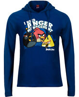 Size Small Men's Angry Birds Blue Hoodie Hoody Hooded Top