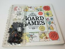 The Book of Classic Board Games 15 Playing Boards and Game Pieces