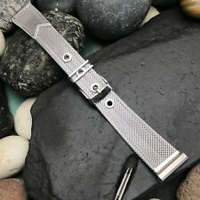1950s USA Stainless Steel Mesh New Old Vintage Watch Band Forstner 19mm or 18mm