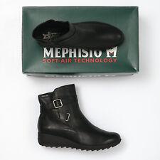 Mephisto Ariane Black Leather Booties - Size 9 M