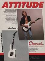 1990 Vintage Magazine Ad Page Charvel Guitars Phil Collen Def Leppard