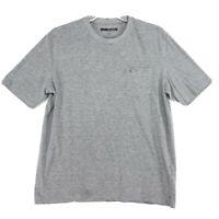 Greg Norman Pocket Tee T Shirt Mens L Large Heather Gray Embroidered Shark Logo