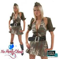 ADULT SEXY ARMY GIRL COSTUME Ladies Army Maiden Soldier Fancy Dress Outfit 2087