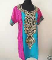 Indian Pakistani crepe silk tunic top printed short sleeves new