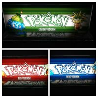 """Pokemon Blue Red & Green Set 4"""" x 11"""" Marquees w/ The Arcade Light Box Displays"""
