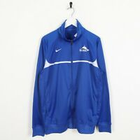 Vintage NIKE Small Logo Zip Up Track Top Jacket Blue | Large L