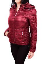 Diamond giacca piumino donna rosso 100 grammi bomber giubbino con cappuccio