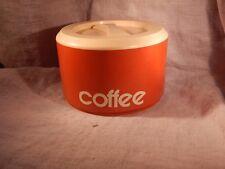 Vintage Sterilite Coffee Container Orange with White Lid #840