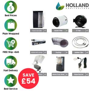 Complete Hydroponic 1.2m Grow Tent Kit 600w HPS Light Ballast Fan Carbon Filter