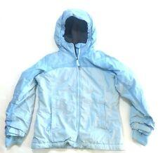 Lands End Girls Grow a Long Blue S 7-8 Full Zip Fleece Lined