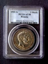 1911-A PRUSSIA PCGS AU50 3 MARK COIN