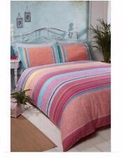 Beautiful Cuba Piped Kingsize Duvet Set Cover Bedding 2 Pillowcases