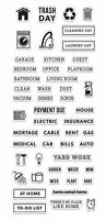 Clearly Kelly Home Planner Hero Arts Clear Acrylic Stamp Set CL915 NEW!