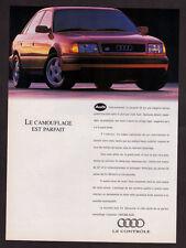 1992 AUDI S4 Vintage Original Print AD - Red car photo, 4-door sedan, sunlight