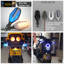 2X Motorcycle Turn Signals DRL Lights LED Direction Lamp Decorative Motor Lights