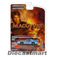 Greenlight 1:64 Hollywood 1987 Pontiac Firebird Blue Macgyver Chase 44770D Model