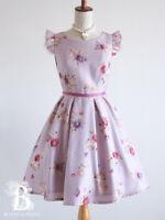 🌹LIZ LISA🌹CottageCore Rose One Piece Dress Purplish Pink Japan F504