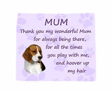 Beagle Thank You Mum Microfibre Glasses Cloth Fun Mothers Day Gift FROM THE DOG