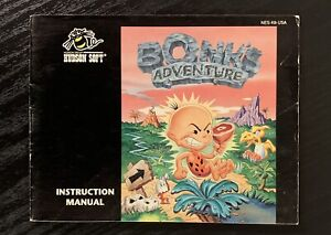 RARE MANUAL ONLY Bonk's Adventure Nintendo Game 1994 NES AUTHENTIC BOOKLET
