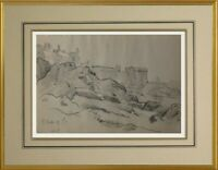 CHARLES WISLIN (1852-1932) BELLE VUE DE SAINT-MALO EN BRETAGNE 1917 (181)