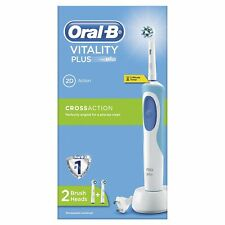 Braun Oral-B Vitality Cross Action Electric Toothbrush With 2 Brush Heads (Blue)