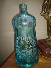 "Ancienne bouteille eau de seltz siphon ""vert Brasserie R.Gadblet  riva Bella ."