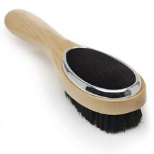 Beechwood Triple Clothes Brush Combines Bristle Head , Black Velour ,fabric Face