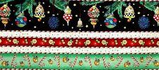 Choose 1 : Mary Engelbreit Christmas Ornaments Cotton Fabric Border Strips