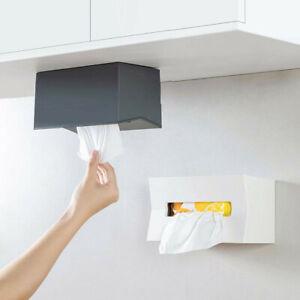 Wall Mount Tissue Box Cover Napkin Paper Case Holder Storage Organizer Container