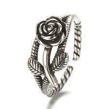 Retro Jewellery Thailand 925 Silver Punk Gothic Open Rings Gifts Wings Roses